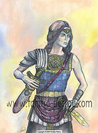 Fanitsa Petrou Art. Fantasy Art by Fanitsa Petrou. warrior princess, heroine, goddess tradition, www.fanitsa-petrou.com