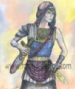Fanitsa Petrou Art, Illustration, Buy Art online, Fantasy Art, Amazon, Warrior princess, Mythology Art, Fantasy Art by Fanitsa Petrou, www.fanitsa-petrou.com