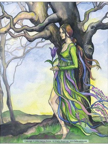 """Tree spirit"" card"