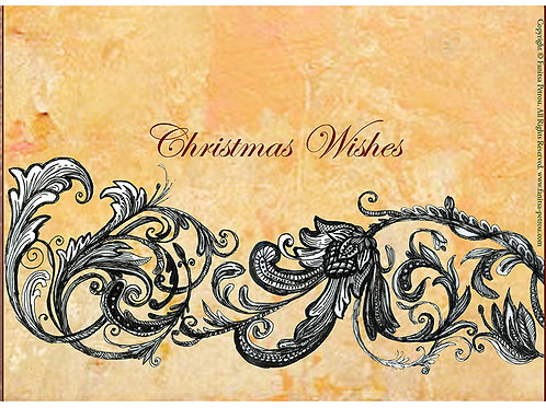 """Christmas wishes"" card / small"