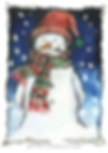Fanitsa Petrou Art. children book illustrations, snowman, by Fanitsa Petrou. www.fanitsa-petrou.com