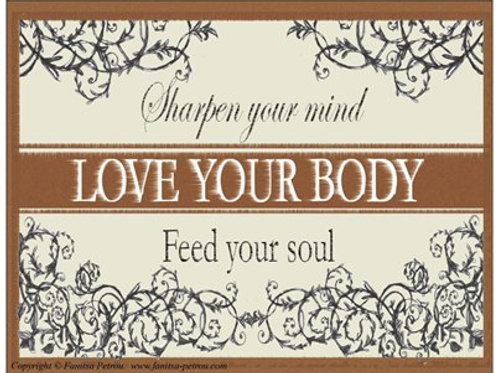 """Love your body"" card"