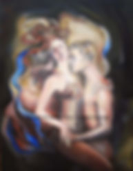 Fanitsa Petrou Art. Gifts for lovers. Artwork to express, celebrate love. Nudes. Couples. Paintings, hand paionted stones, posters, cards.