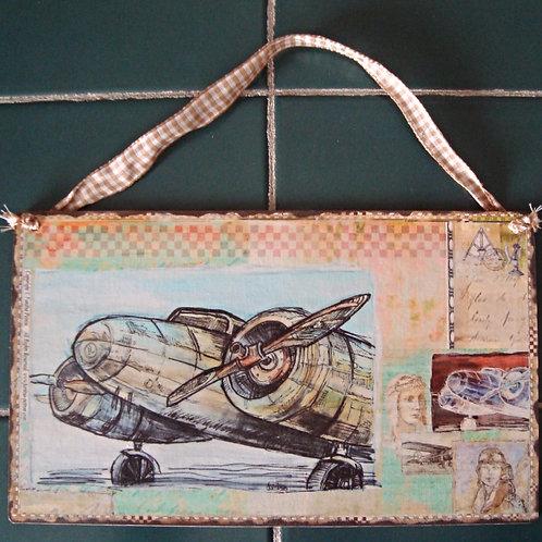 """""""Women Aviators, 5"""" wooden sign"""