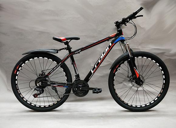"26"" Crolan Alloy Frame Mountain Bicycle (Red)"