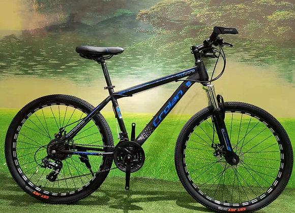 """26"""" Crolan 24 - Speed Mountain Bicycle (Blue)"""