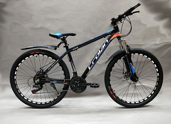 "26"" Crolan Alloy Frame Mountain Bicycle (Blue)"