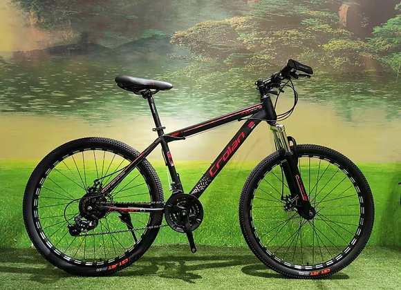 """26"""" Crolan 24 - Speed Mountain Bicycle (Red)"""