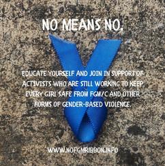 NoFGM Ribbon No Means No