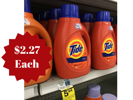 Score Tide Detergent for $2.27 each at Rite Aid starting 10/27