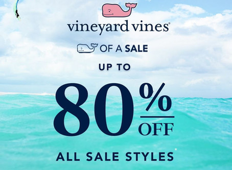 Whale Of A Sale is now Up To 80%* Off All Sale Styles!