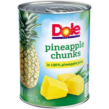DOLE CANNED PINEAPPLE $0.25 Each at Stop N Shop