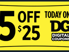 Dollar General $5 off $25 Scenarios for Saturday, 4/17