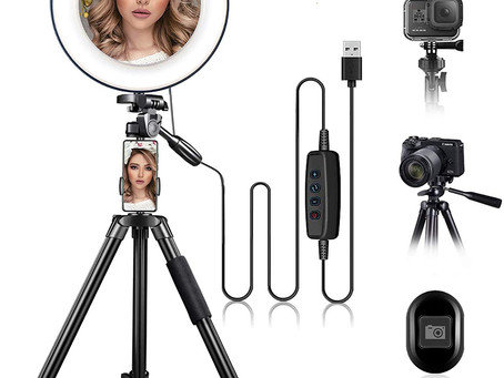"""$19.99-10"""" Ring Light with Stand and Phone Holder"""