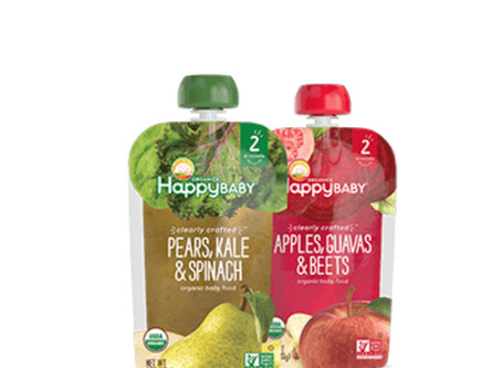 HAPPY BABY BABY FOOD - $0.67 Each