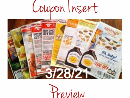 Sunday Coupon Preview for 3/28/21