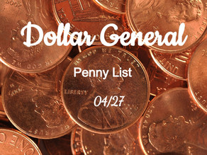 Dollar General Penny List 04/27-HUGE LIST