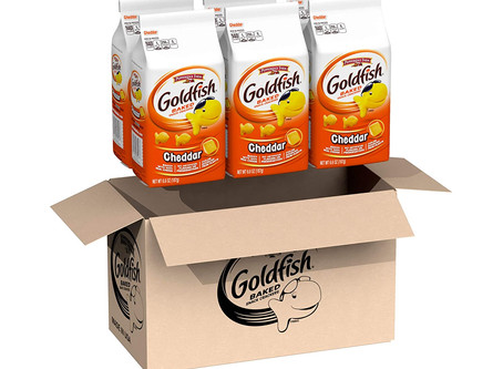 Pepperidge Farm Goldfish CheddarCrackers, 6.6 Ounce Bag, 6 Count-$10.68