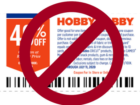 Did You Hear The News? No More Coupons