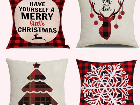 $9.87-4 Pack Christmas Pillow Covers