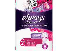 Always Discreet Incontinence Liners 26 CT. $1.00 till 05/29
