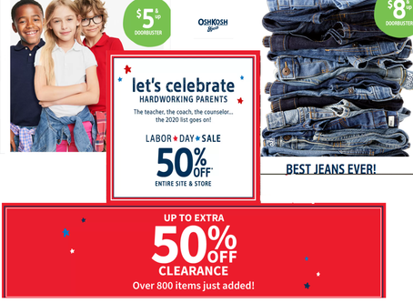 OshKosh Labor Day Sale Plus up to 80% on Clearance