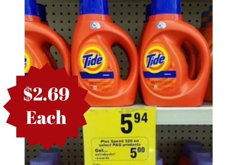 Score Tide Detergent for $2.69 at CVS starting 10/25 - 10/31