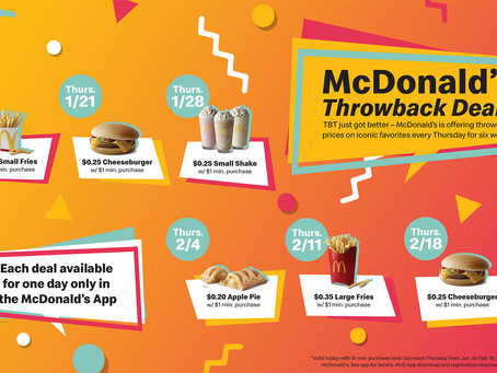McDonald's Throwback Thursday Deals Are 35 Cents or Less