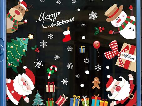 $6.39-296PCS Christmas Window Stickers