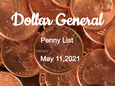 DOLLAR GENERAL PENNY LIST MAY 11, 2021