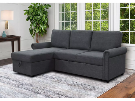 $499.00-Hamilton Reversible Storage Sectional with Pullout Bed (reg $799.00)