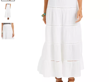 25% Off Style & Co Tiered Cotton Maxi Skirt