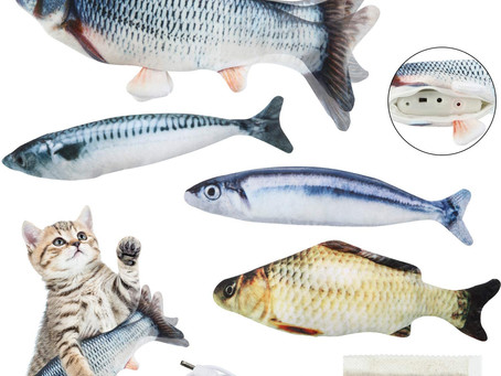 $7.79-Realistic Fish Cat Toy
