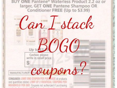Can you stack BOGO coupons and dollar off coupons?