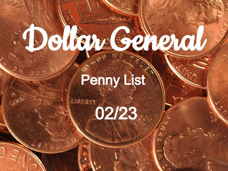 Dollar General Penny List For 02/23