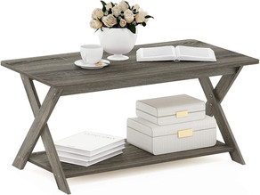 $41.79-Furinno Modern Simplistic Criss-Crossed Coffee Table