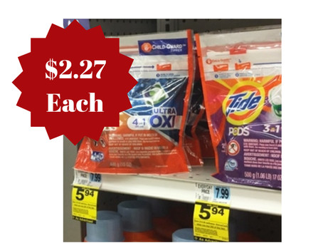 Score Tide Pods for $2.27 each at Rite Aid starting 10/27