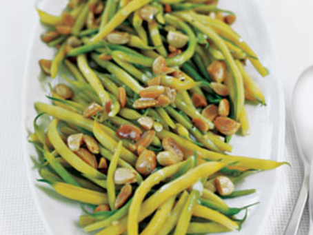 2021 Food Box #8 - Yellow Beans with Butter and Toasted Almonds Recipe