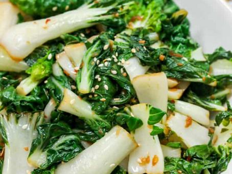 2021 Food Box #2 - Ginger Garlic Baby Bok Choy Recipe