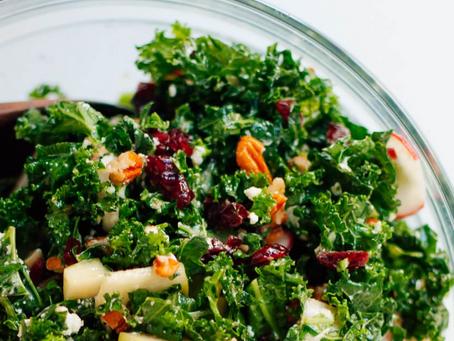 2021 Food Box #8 - Kale Salad Recipe