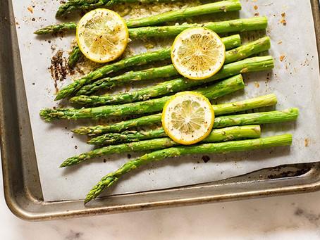 2021 Food Box #1 - Roasted Lemon Garlic  Asparagus Recipe