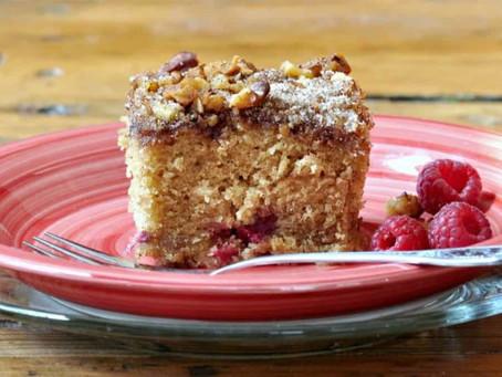 2021 Food Box #1 - Rhubarb Sour Cream Coffee Cake Recipe