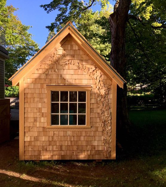 Tree desin and garden shed