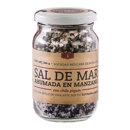 Sal Ahumada en leña de manzano con chile Piquín SMP