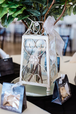 Lantern with Greenery Photo By: Nate & Grace Photography