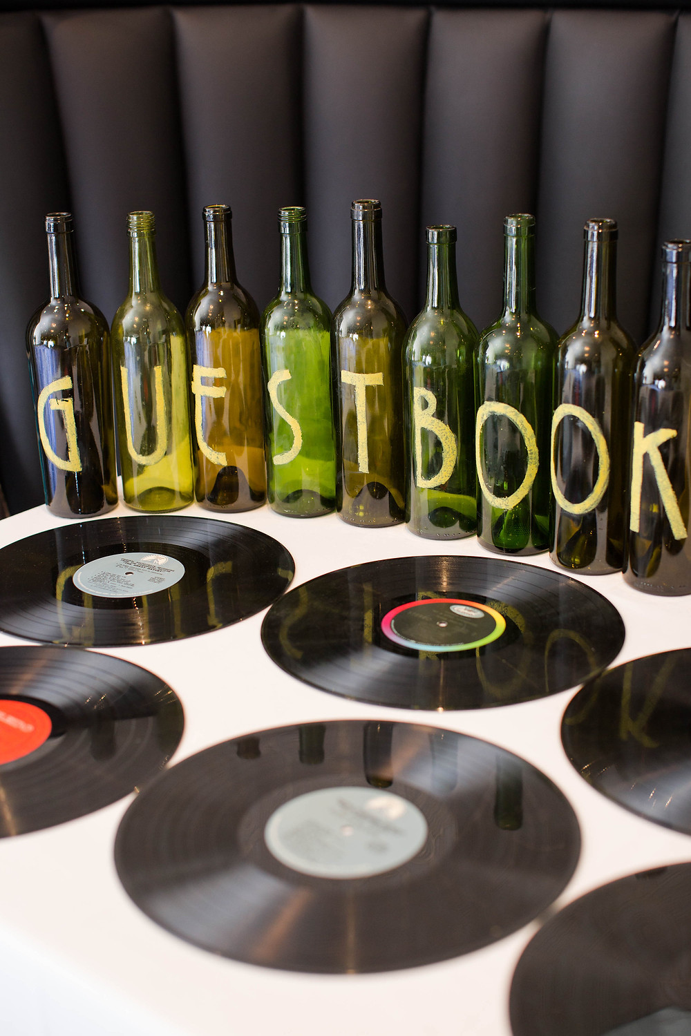 Music Themed, old records, wedding guestbook, guestbook, music