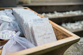 Glamour N'Glitz Events Jennifer Simmons Photography wedding favors and escort cards