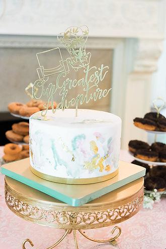 Glamour N'Glitz Events Jennifer Simmons Photography Story book wedding cake topper