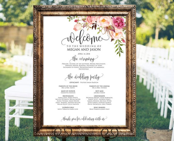 Glamour N'Glitz Events_Baltimore MD_Wedding Welcome Sign