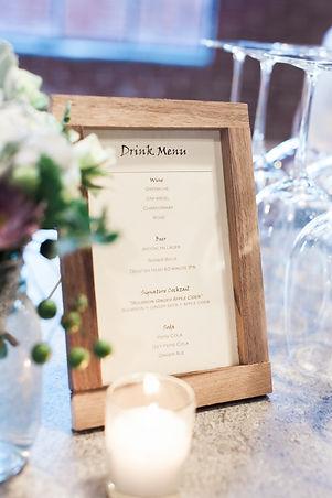 Glamour N'Glitz Events Astrid Photography bar menu